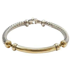 David Yurman DY 14k & 925 Silver Twisted Bracelet